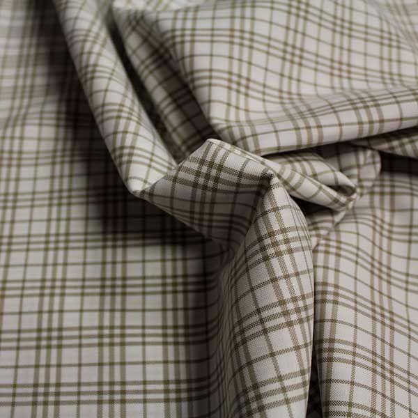 100% Cotton Beige Check