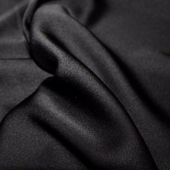Black Silky Satin polyester