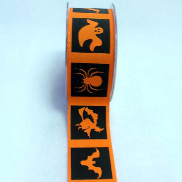 Halloween Ribbon - Orange Pattern
