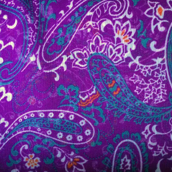 Purple paisley chiffon