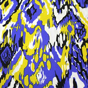 BLUE & YELLOW. - per half metre