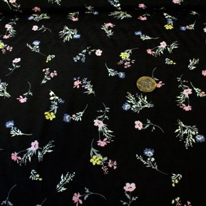 Black with multi colour flower