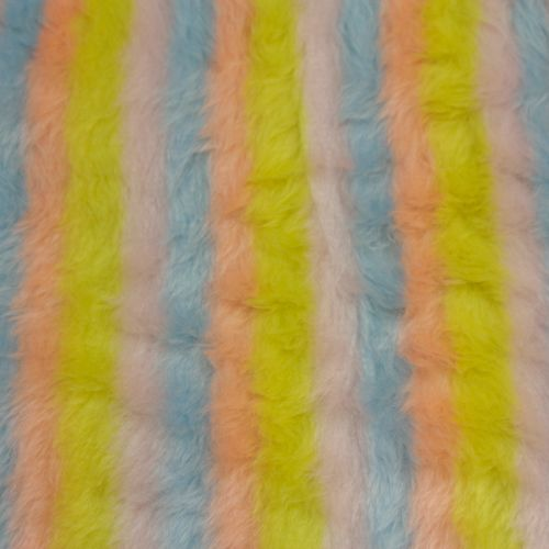 Pastel Stripe Fur 150cm wide - Sold by the 1/2 meter -From