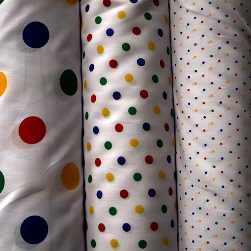 Poly Cotton Spots - per half metre