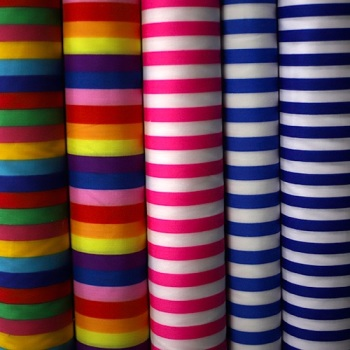 Poly cotton candy stripes - per half metre