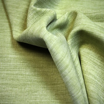 Lime linen look Polyester - per metre