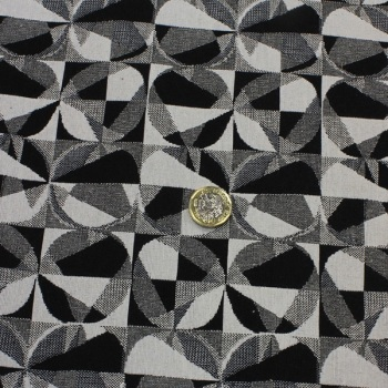 Black/White Eclipse - sold by the 1/2 meter - from
