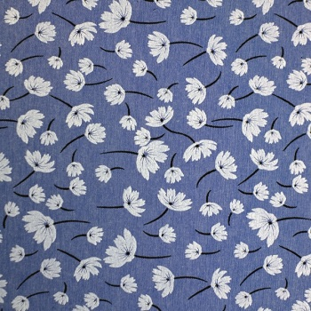 Denim Chambray Blue 80/20 poly Cotton - sold by the metre