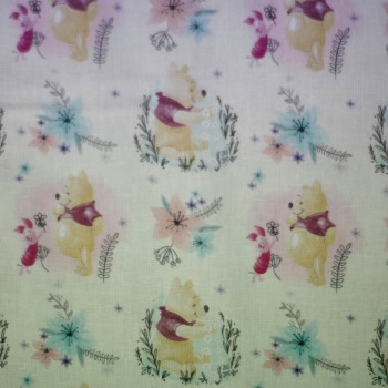 100% Digital print Cotton - Winnie the Pooh