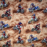 Novelty Fabric - Motorcross - Sold by the half metre
