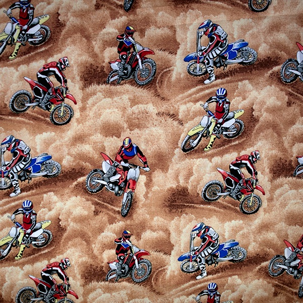 Novelty Fabric - Motorcross - per half metre