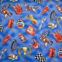 Motorcross accessories - sold by the Fat Quarter - from