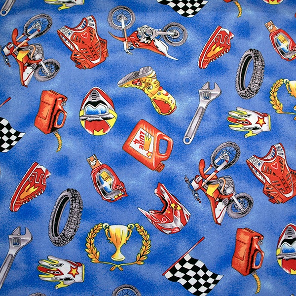 Motorcross accessories - sold by the fat quarter