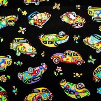 Novelty fabric - VW Beetles - per half metre