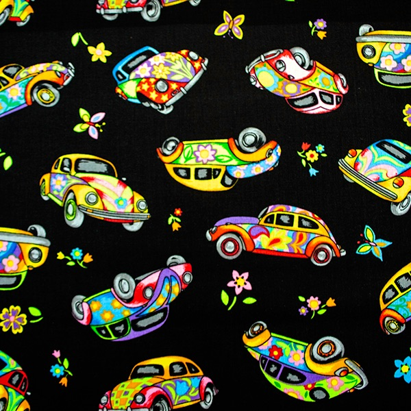 Novelty fabric - VW Beetles - per half metre