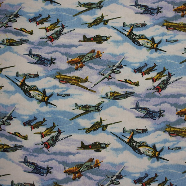 Warbirds - Sold by the Fat Quarter - from