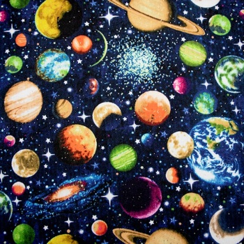 Small Solar with Glitter - Sold by the Fat quarter - from