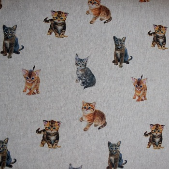 Digital Print cute cats design - sold by the 1/2 metre - from