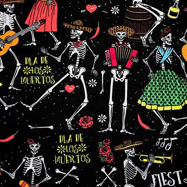 Black & Red Dancing Skeletons