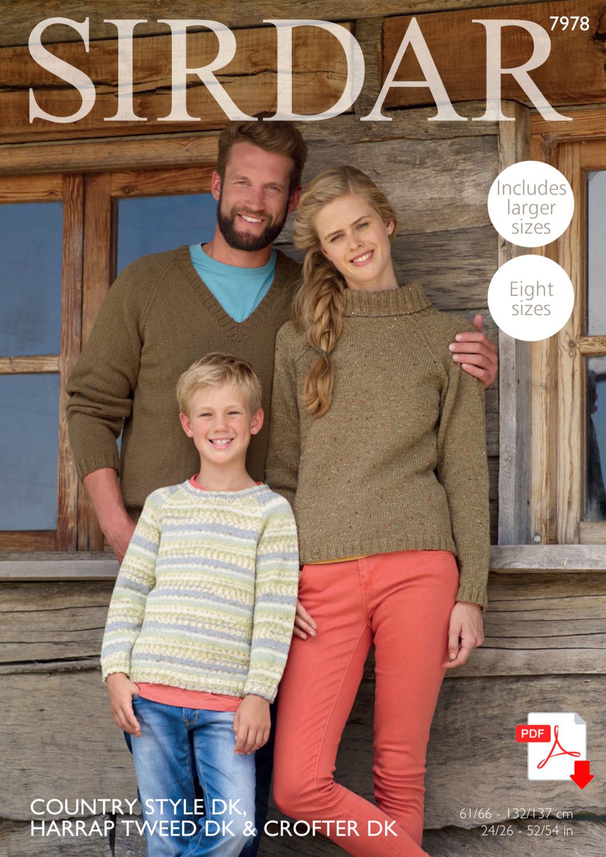 Sirdar 7978 Family PDF Pattern in DK