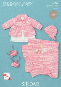 Sirdar 4616 4 ply Baby Pattern in Crofter  (PDF)