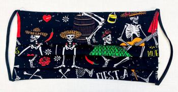 READY MADE MASK - Skeletons on Black