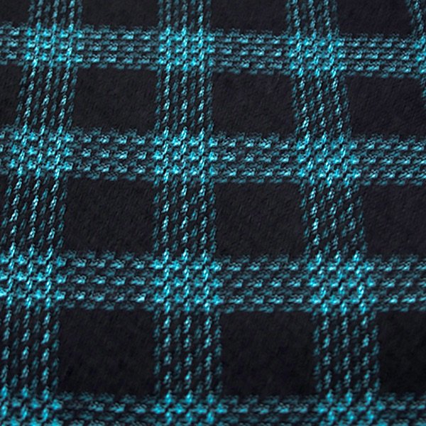 Turquise & Black Check - Sold by the metre