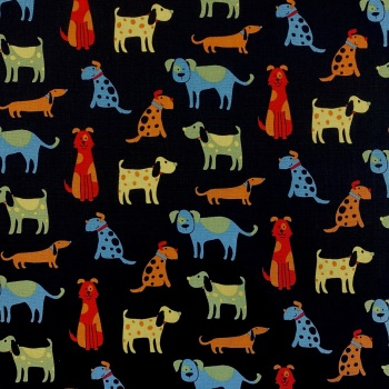 Happy Paws - Cartoon Dog - per half metre