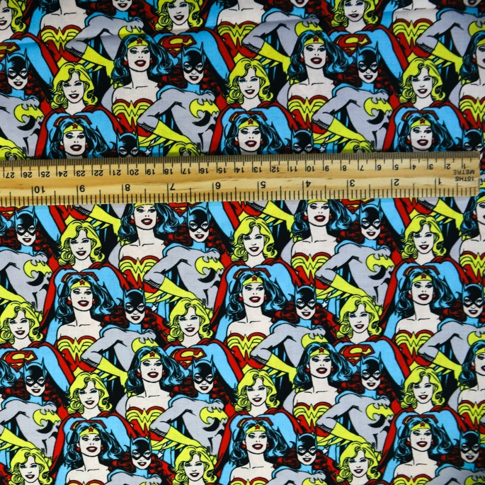 Superwoman Faces - Sold by the half metre