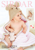 4710 -  Sweetie Hooded blanket - (PDF)