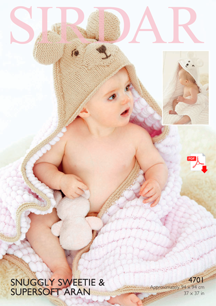 4710 -  Sweetie Hooded blanket
