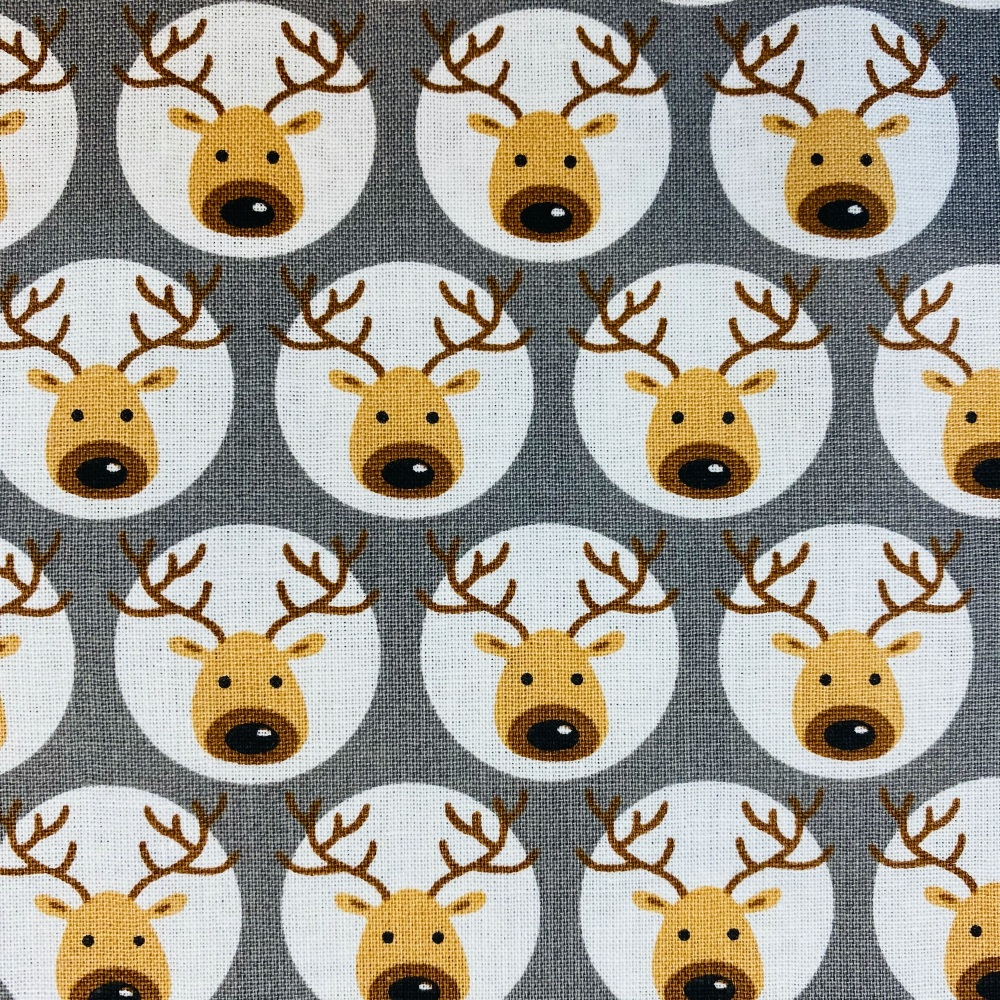 Reindeer Grey - Sold by half metre