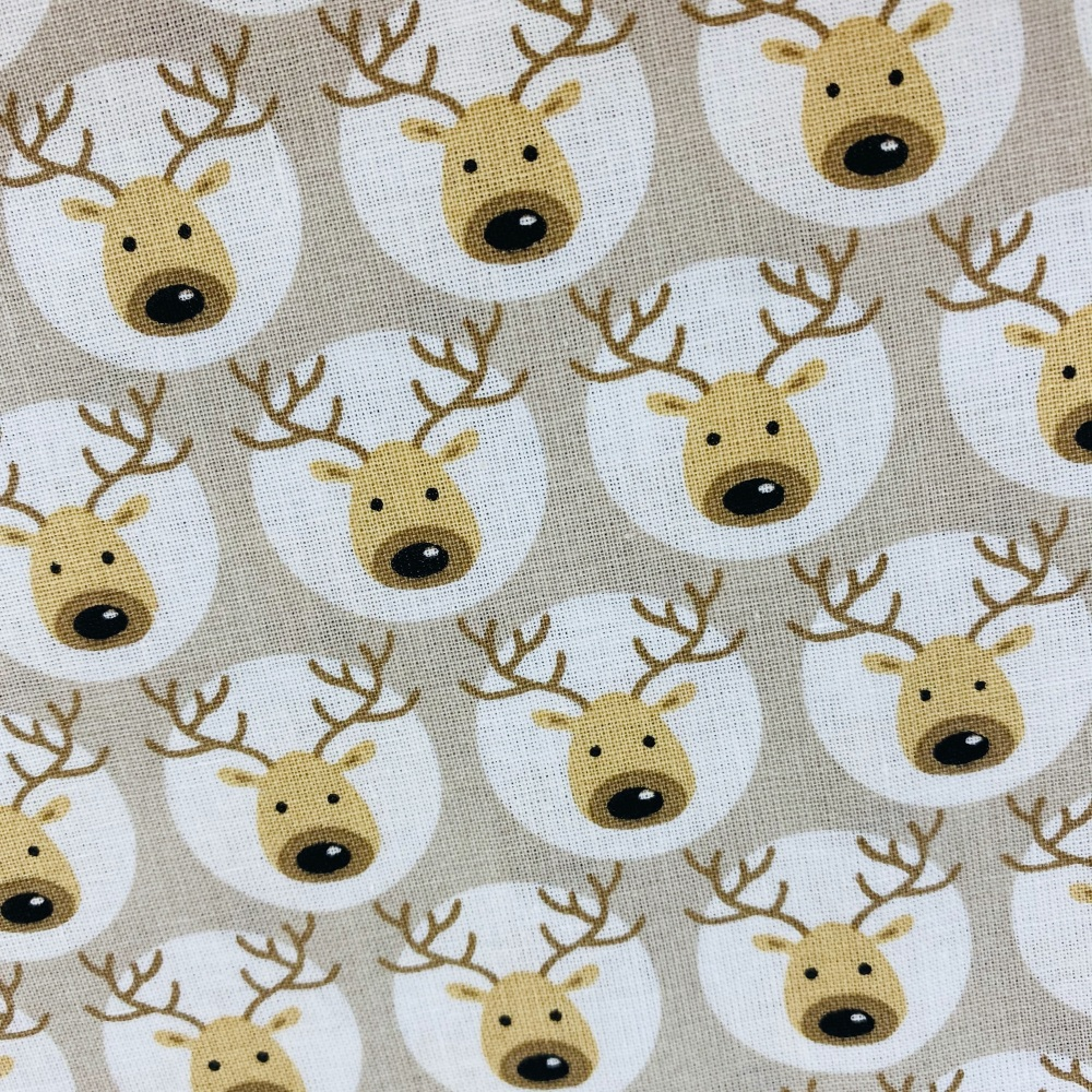Reindeer Light Grey - Sold by half metre