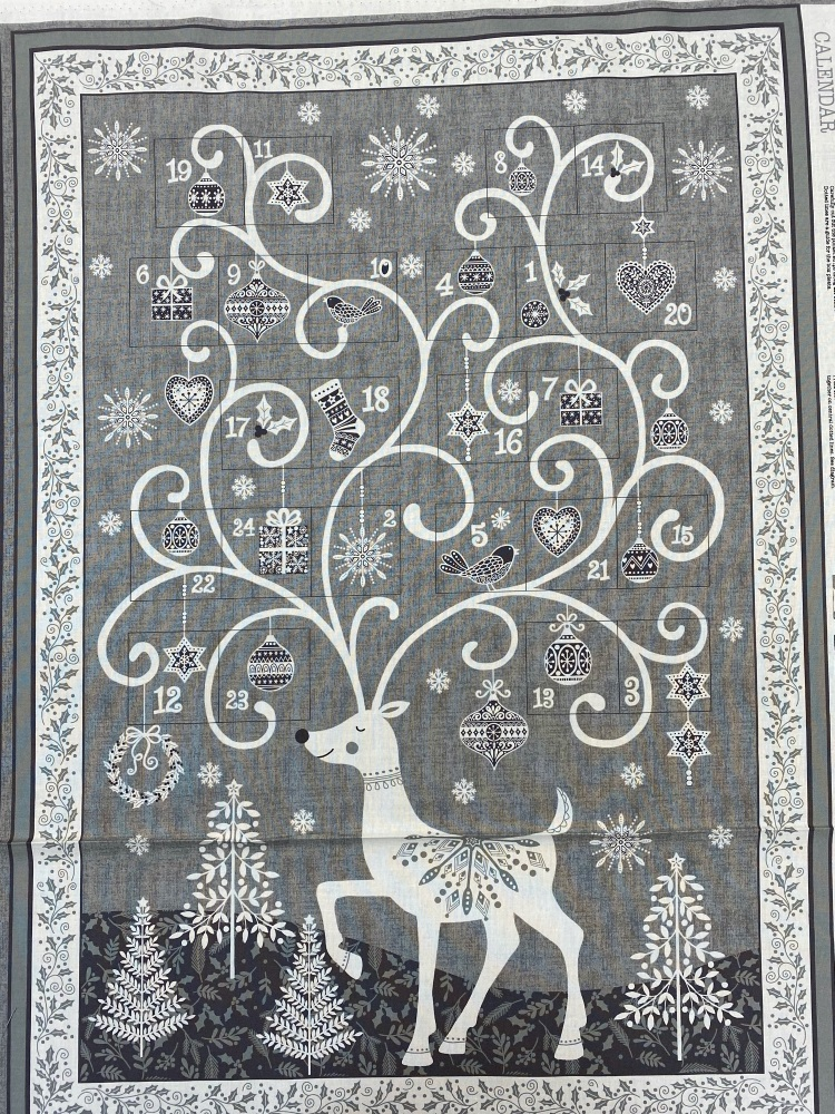 Reindeer Advent Calendar - Sold by Panel