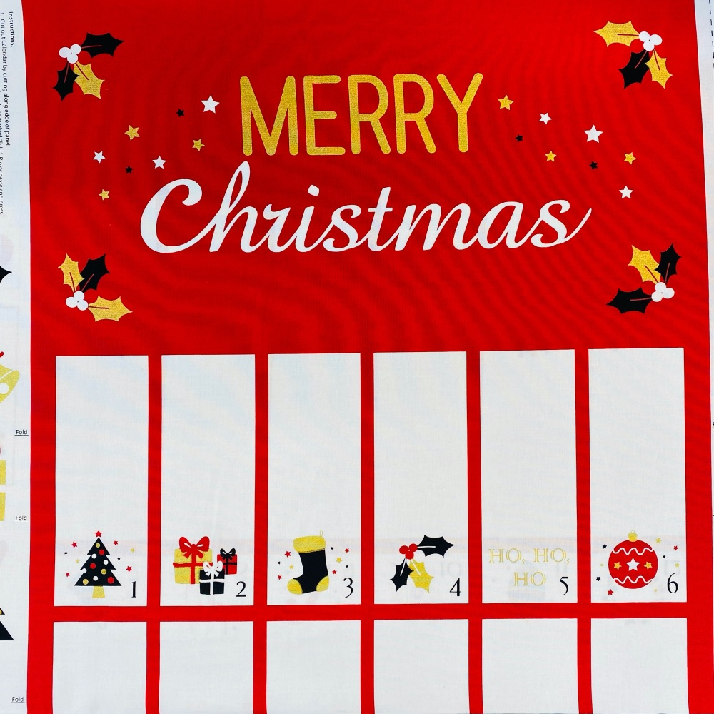 Festive Advent Calendar - Sold by panel