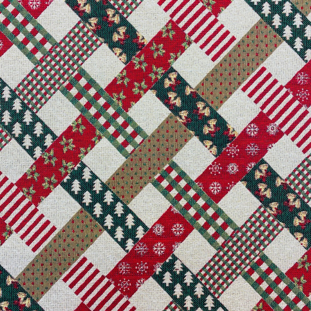 Festive 'Criss Cross' Craft Cotton - Sold by half metre