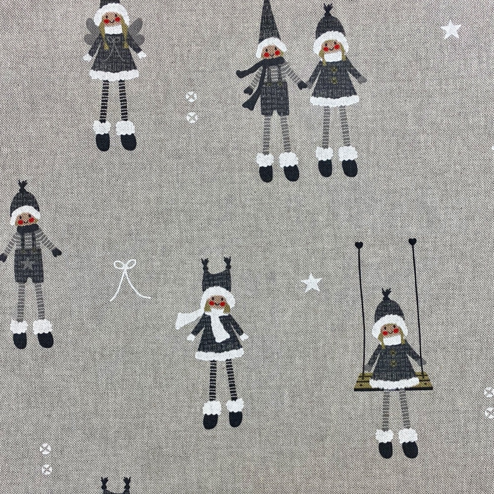 Nordic Christmas Grey - Sold by half metre