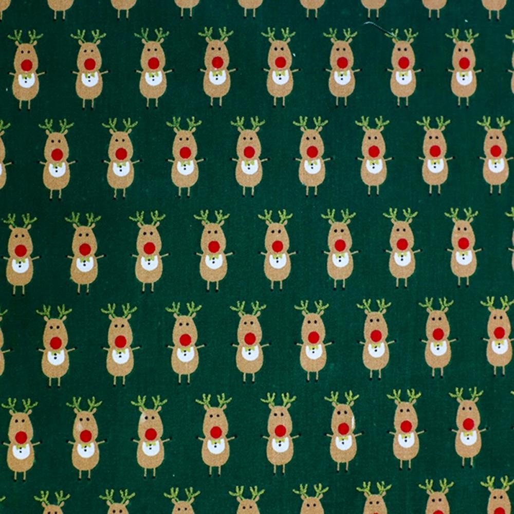 Reindeer Green - Sold by half metre