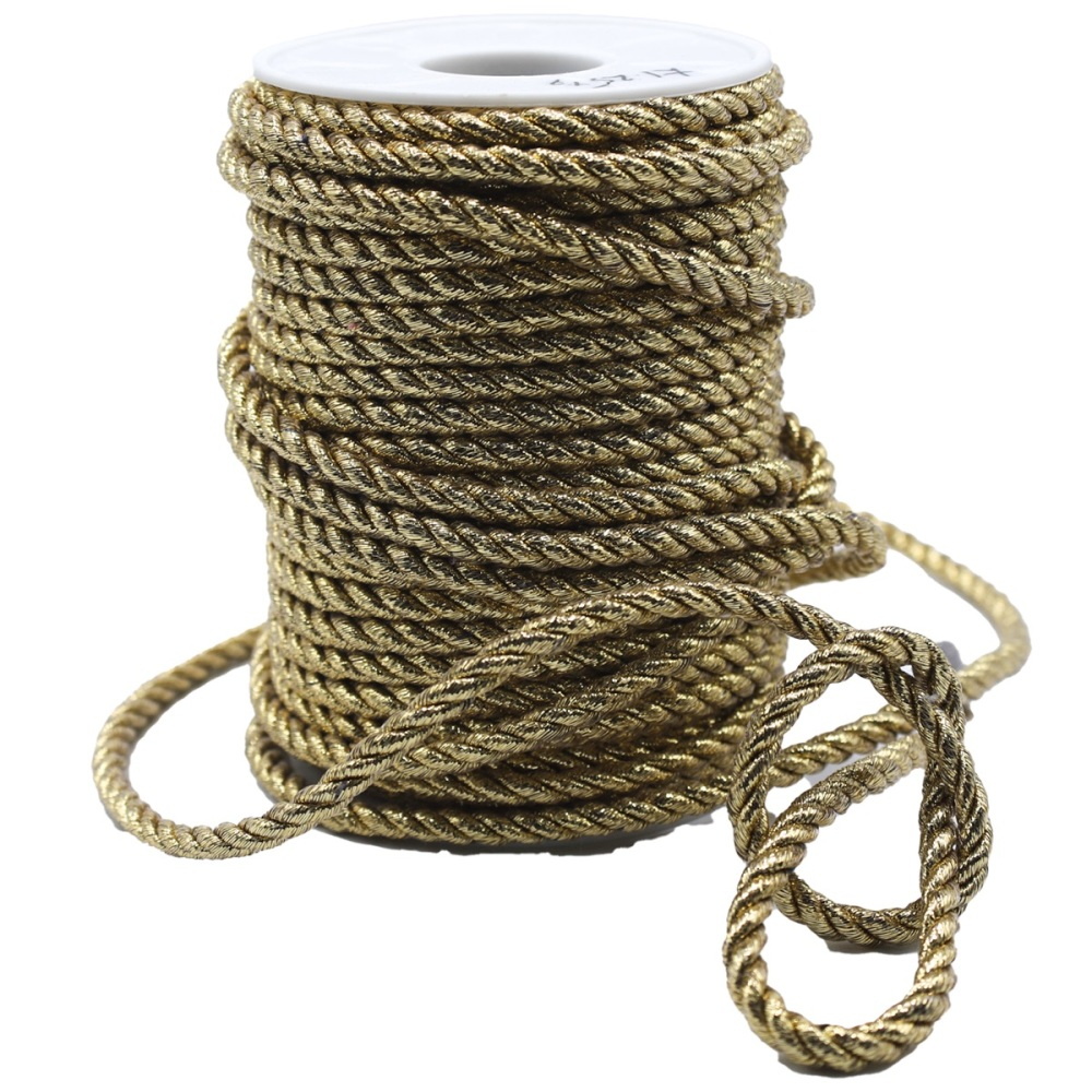 Gold Rope Cord - Sold by the Metre
