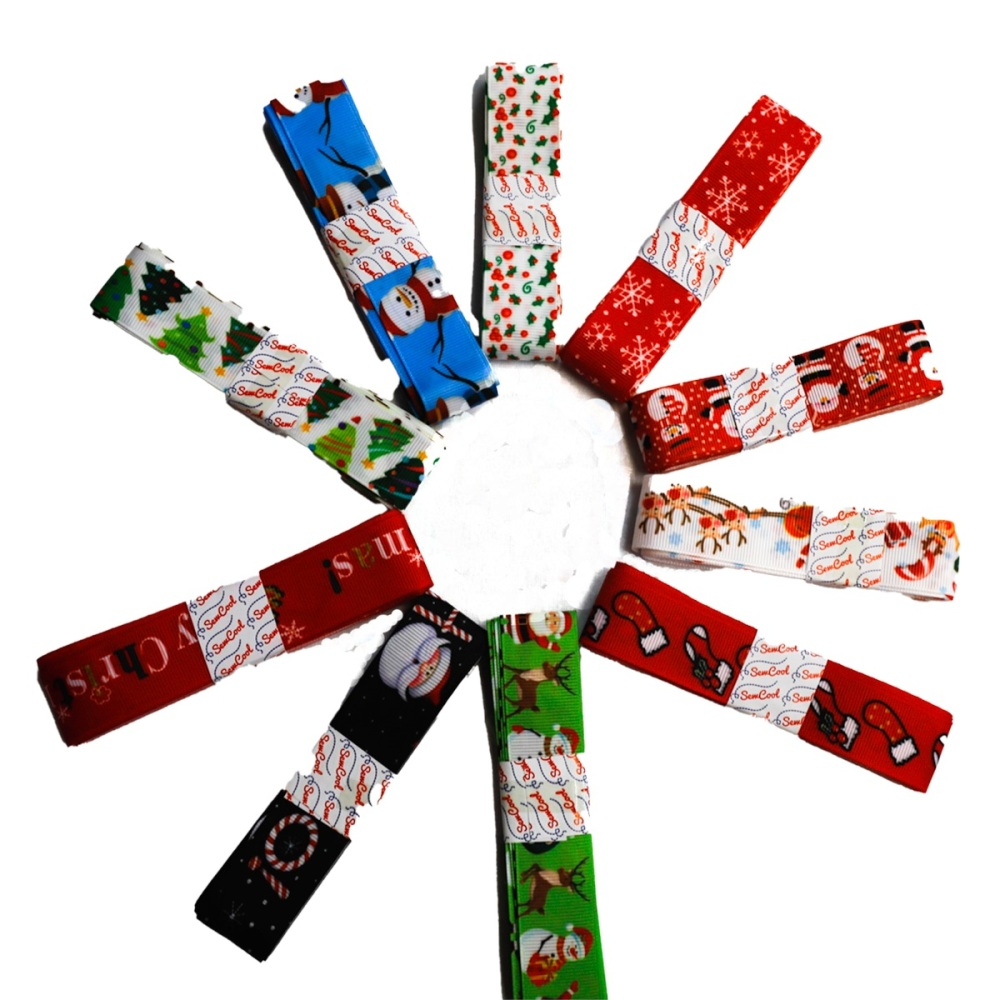 Assorted Grossgrain Ribbon Bundles - Sold by bags of 10