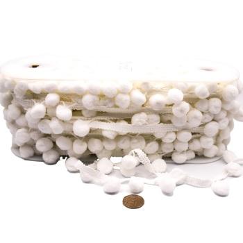 White Pom Pom Trim - per metre