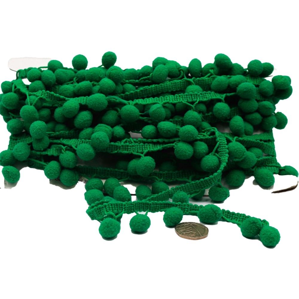 Green Pom Pom trim