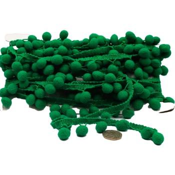 Green Pom Pom trim - per metre
