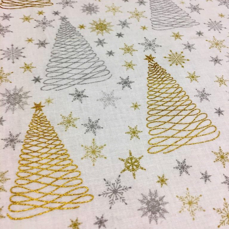 Gold Christmas Tree - Sold by half metre