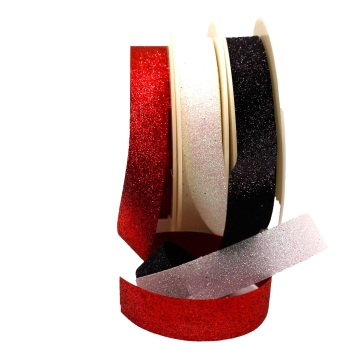 Glitter on Satin Ribbon - per metre - from