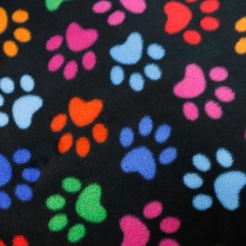 Paw Prints Polar Fleece - per half meter