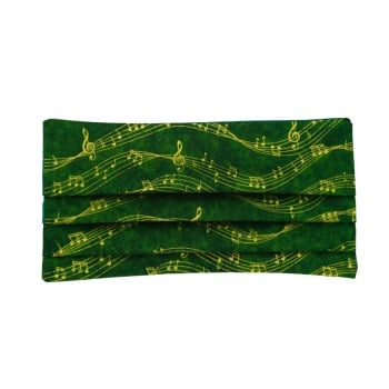 Green with Metallic Gold Music