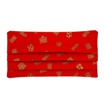 Red with Metallic Parcels
