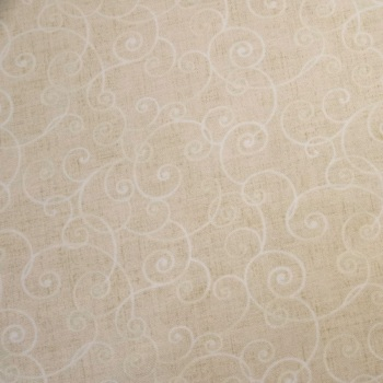 Cream with Scroll Pattern - per half metre
