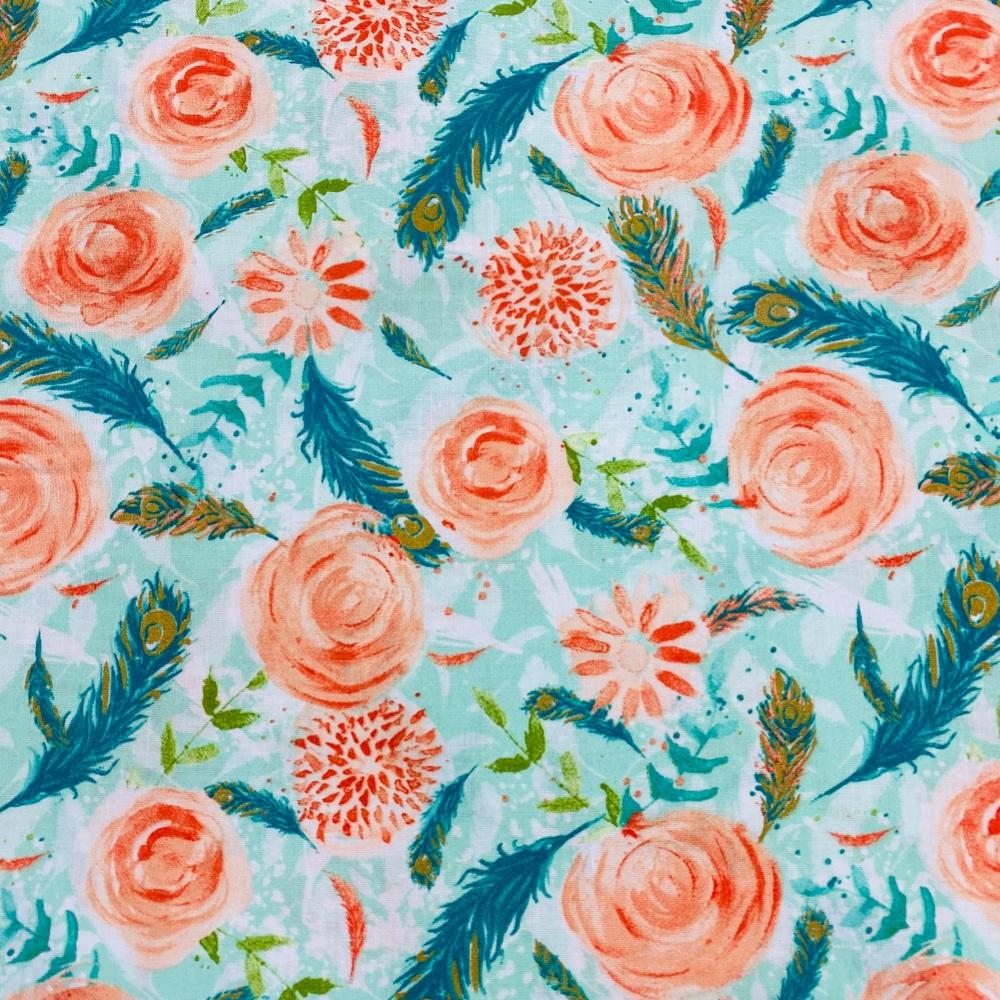 Peach Flower - Price Per Metre